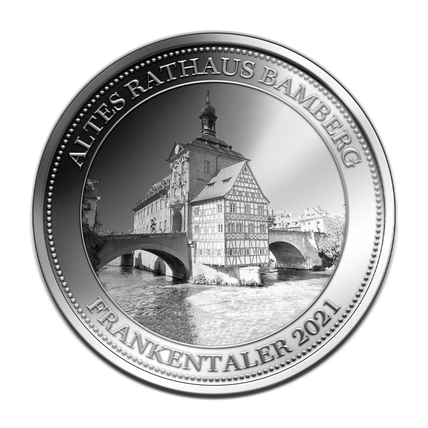 Frankentaler  -  Altes Rathaus Bamberg - Feinsilber